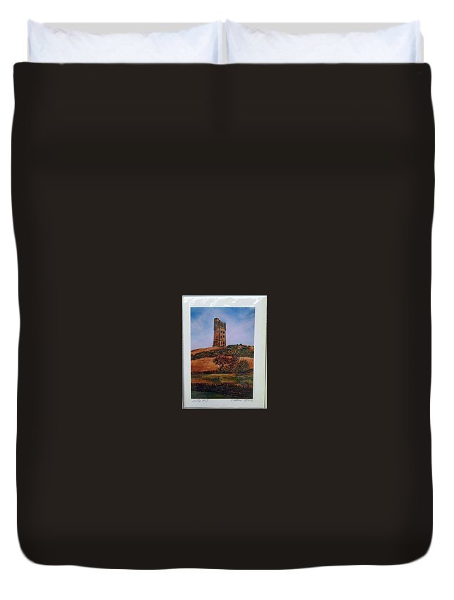 Duvet Cover featuring the digital art Castle Hill by Matthew Evans