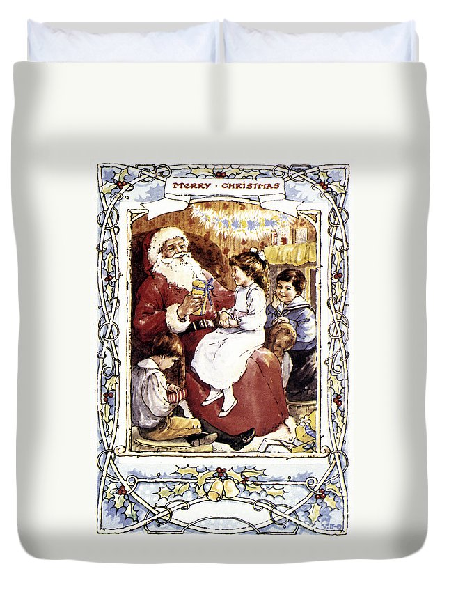 19th Century Duvet Cover featuring the photograph English Christmas Card by Granger