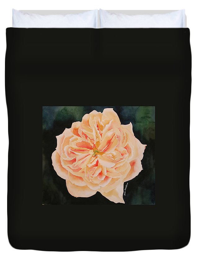 Rose Duvet Cover featuring the painting English Rose by Jean Blackmer