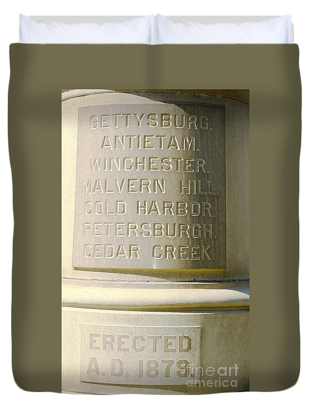 Staue Duvet Cover featuring the photograph Engraved by Jesse Ciazza