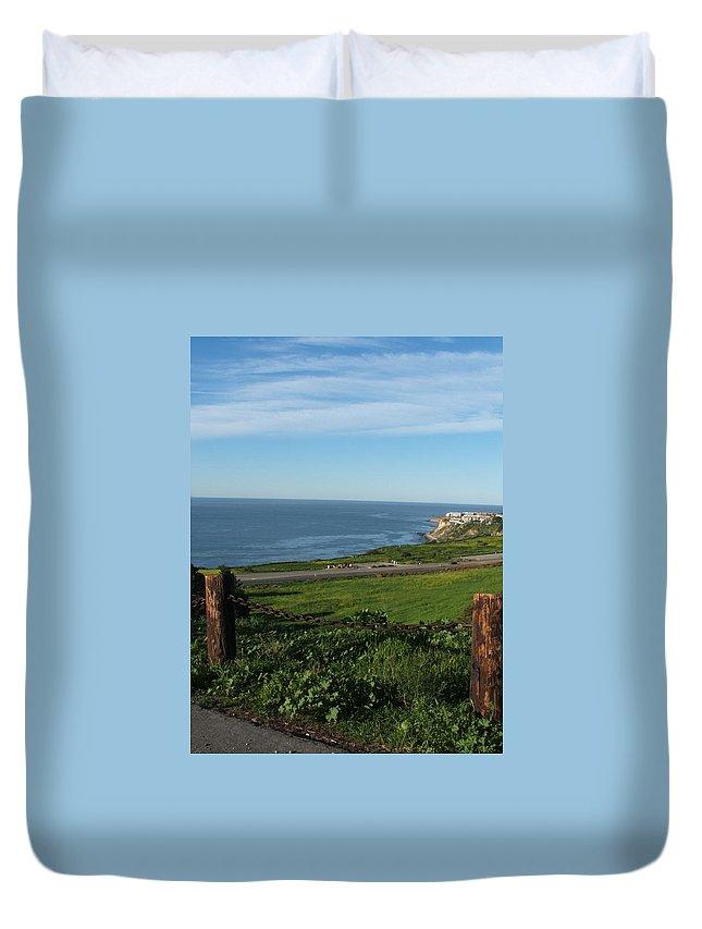 Ocean Duvet Cover featuring the photograph Enjoying The View by Shari Chavira