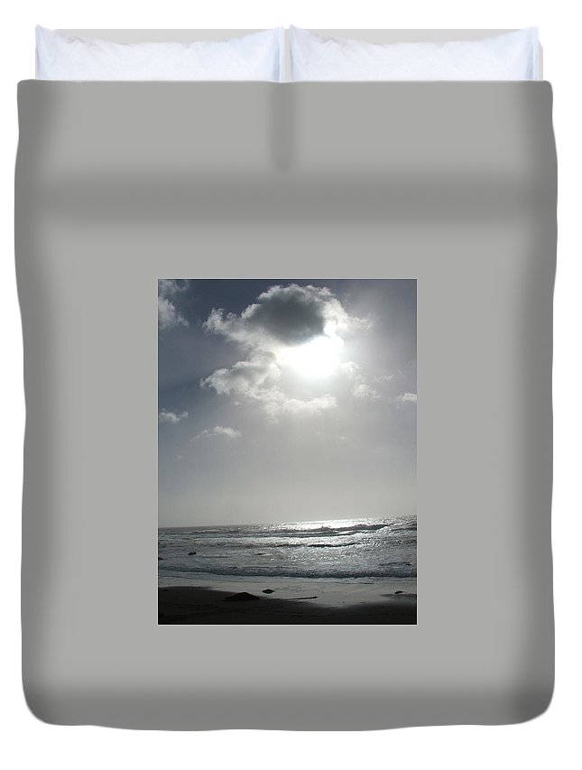 Black And White Duvet Cover featuring the photograph Enlightened by Shari Chavira