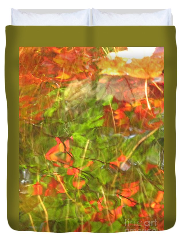 Abstract Duvet Cover featuring the photograph Entangled Adrift by Sybil Staples