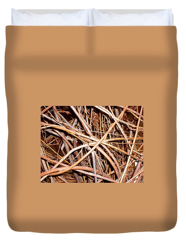 Vines Duvet Cover featuring the photograph Entangled by Wayne Potrafka