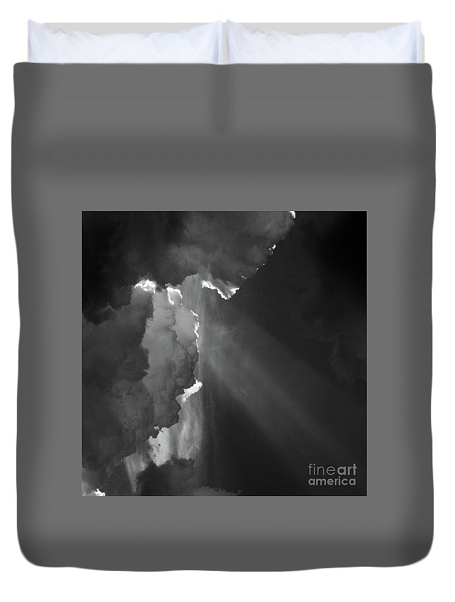 Ature Duvet Cover featuring the photograph Enter Stage Right by Skip Willits