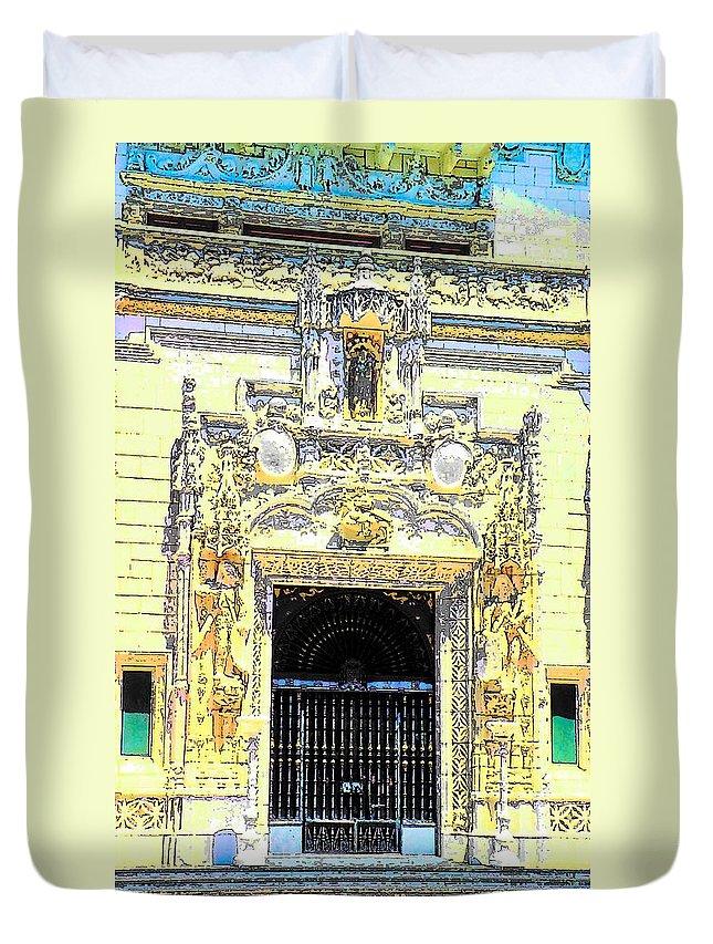 Architecture Duvet Cover featuring the photograph Entrance Casa Grande by John Schneider