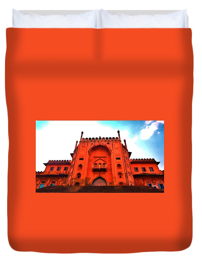 Architecture Duvet Cover featuring the photograph #Entrance Gate by Aakash Pandit