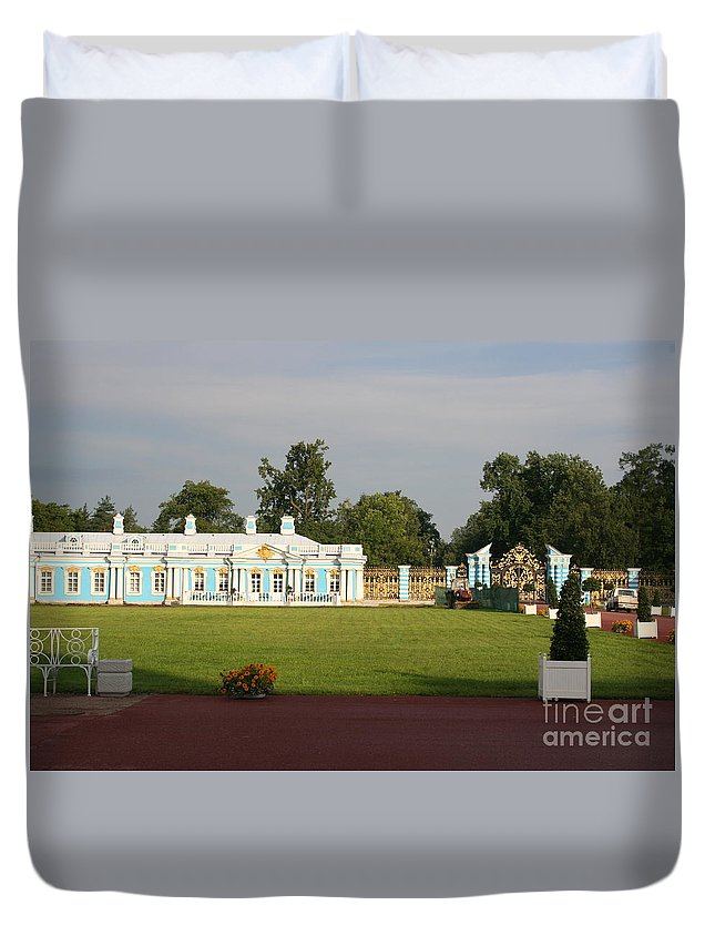 Entrance Duvet Cover featuring the photograph Entrance Katharinen Palace by Christiane Schulze Art And Photography