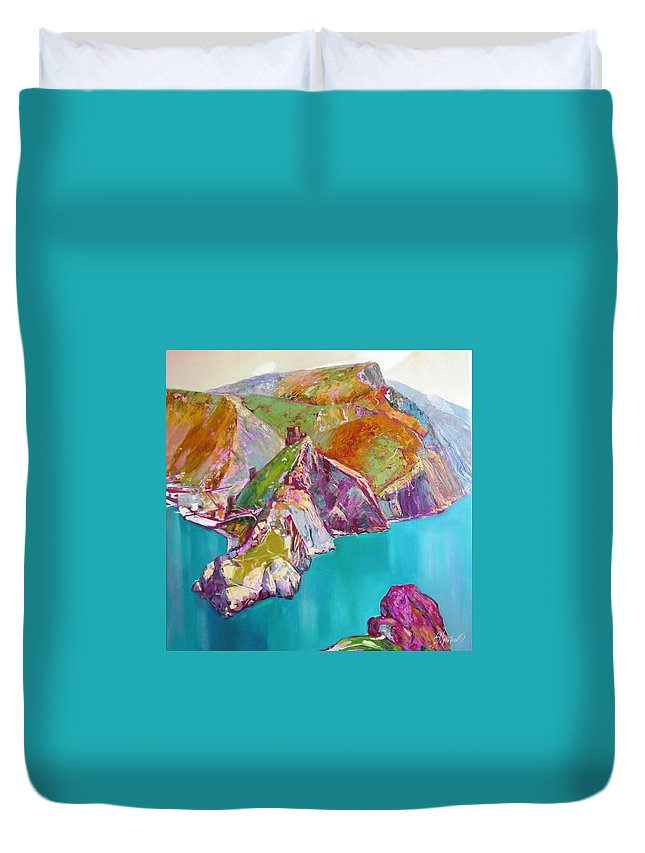 Ignatenko Duvet Cover featuring the painting Entry To Balaklaw by Sergey Ignatenko