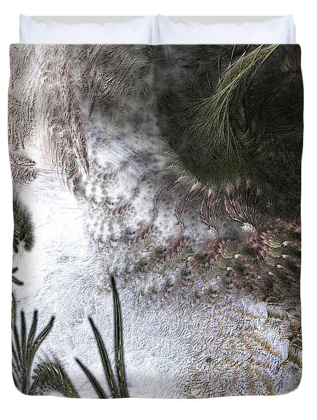 Abstract Duvet Cover featuring the digital art Environmental Transitions by Casey Kotas