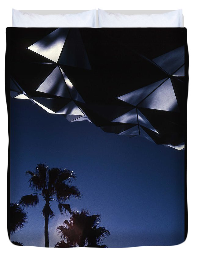 Epcot Duvet Cover featuring the photograph Epcot Abstract by Richard Rizzo