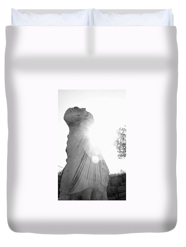 Statue Duvet Cover featuring the photograph Ephesian Statue by Jennifer Kelly