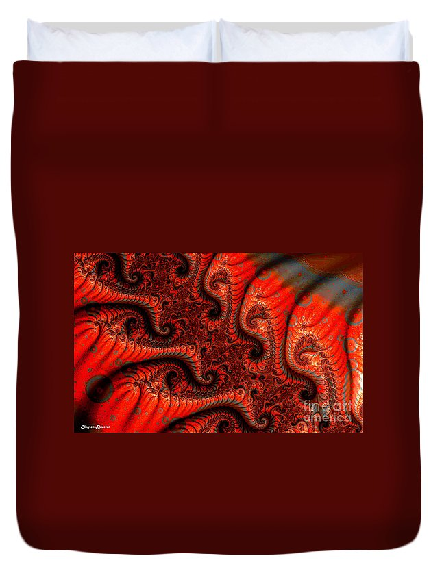 Clay Duvet Cover featuring the digital art Epidermal Emancipation by Clayton Bruster