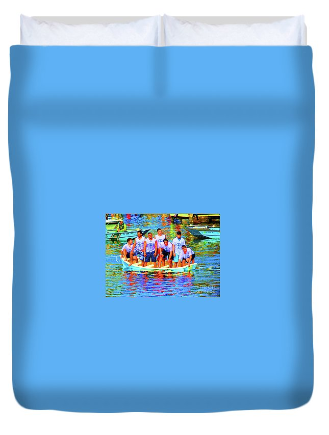 Epiphany Duvet Cover featuring the photograph Epiphany Boys by Jost Houk