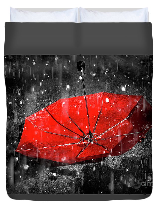 Red Duvet Cover featuring the photograph Epiphany by Jorgo Photography - Wall Art Gallery