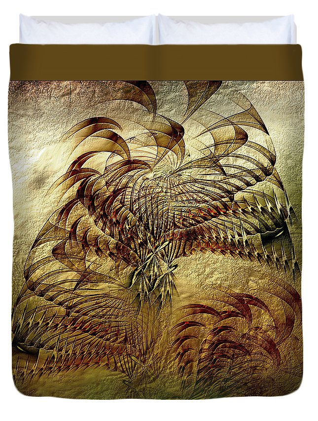 Abstract Duvet Cover featuring the digital art Epoch by Casey Kotas