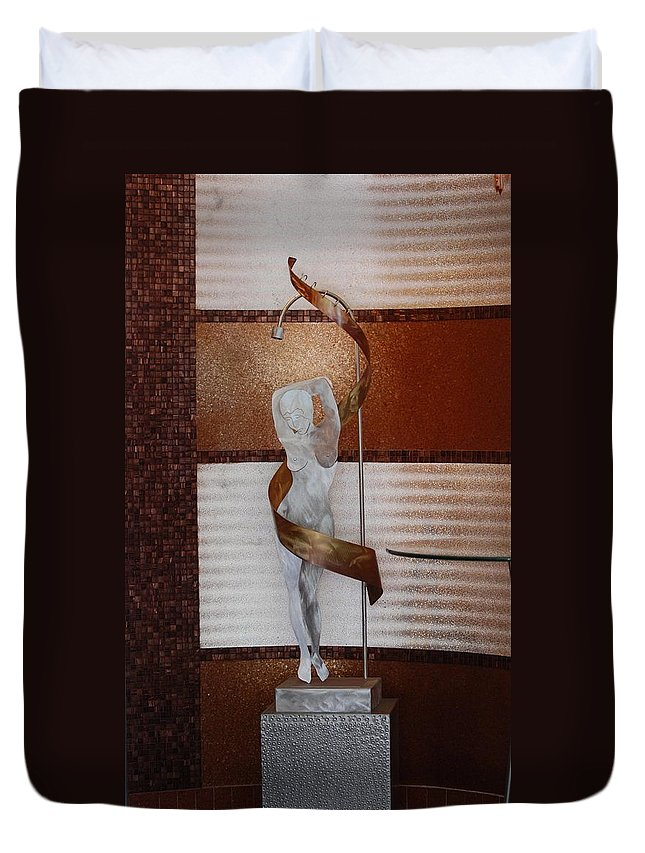 Statue Duvet Cover featuring the photograph Erotic Museum Piece by Rob Hans