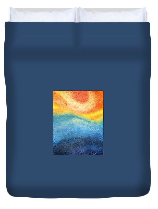 Escape Duvet Cover featuring the painting Escape by Todd Hoover