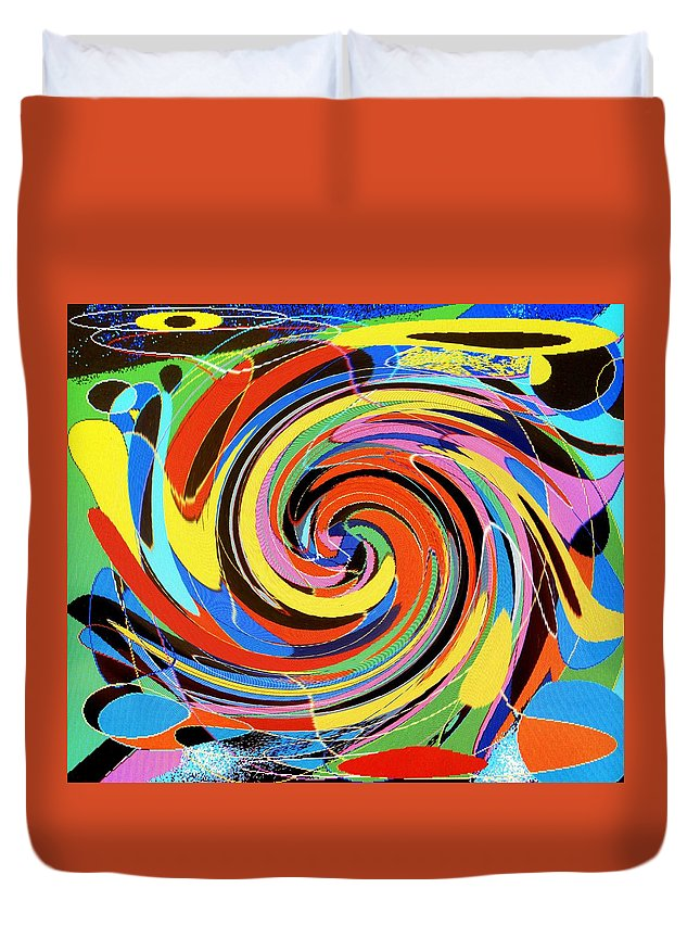 Duvet Cover featuring the digital art Escaping The Vortex by Ian MacDonald