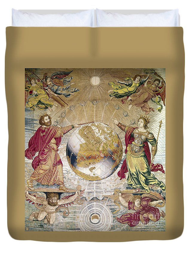 16th Century Duvet Cover featuring the photograph Escorial: Tapestry by Granger
