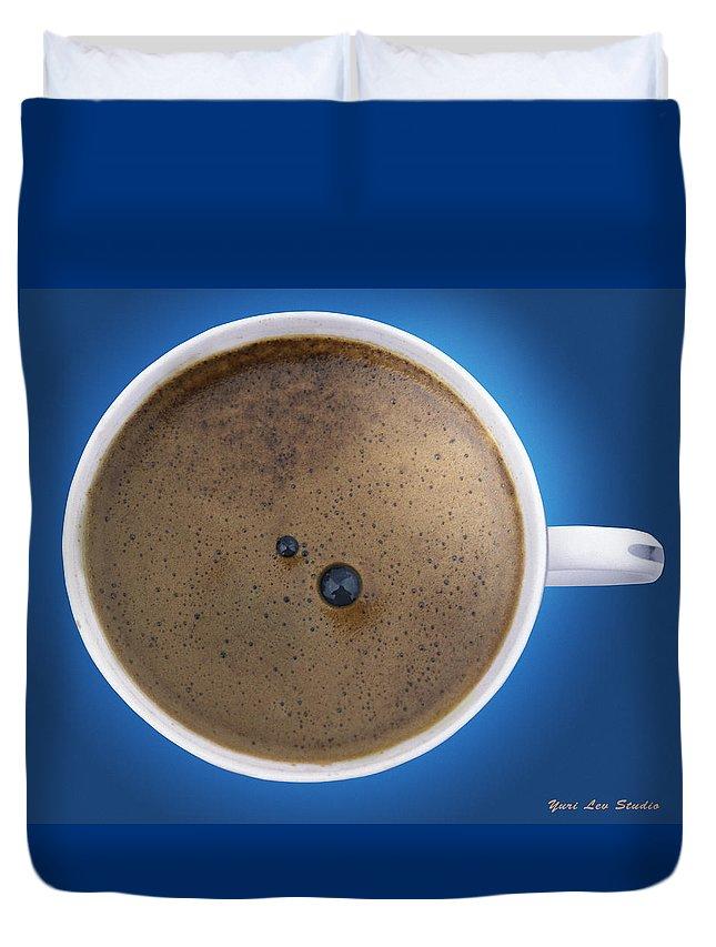 Espresso Duvet Cover featuring the photograph Espresso by Yuri Lev