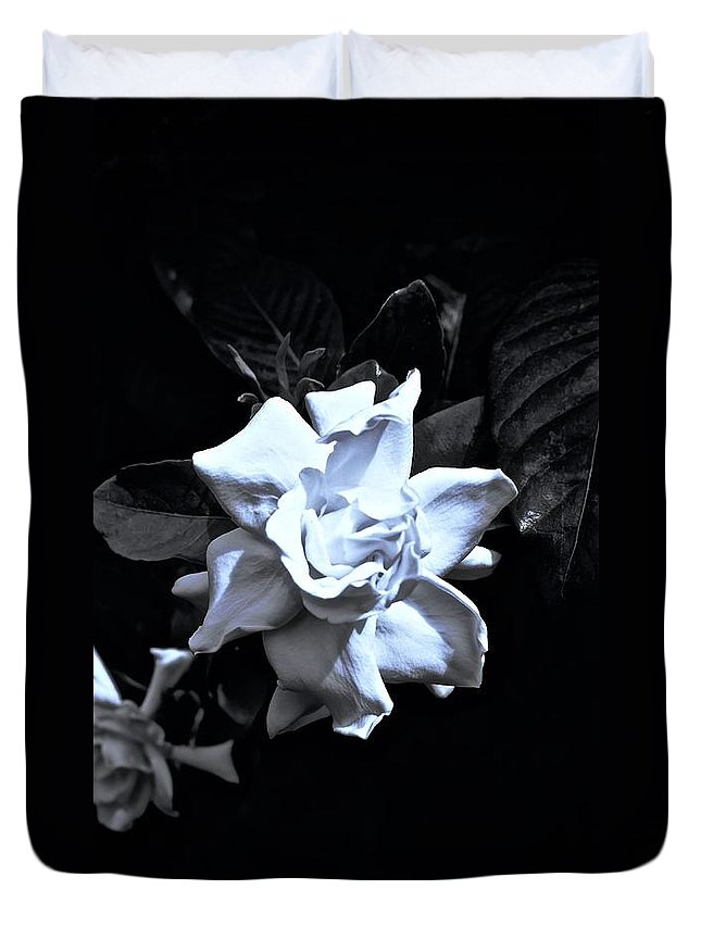Monochrome Duvet Cover featuring the photograph Essence Of by Tim G Ross