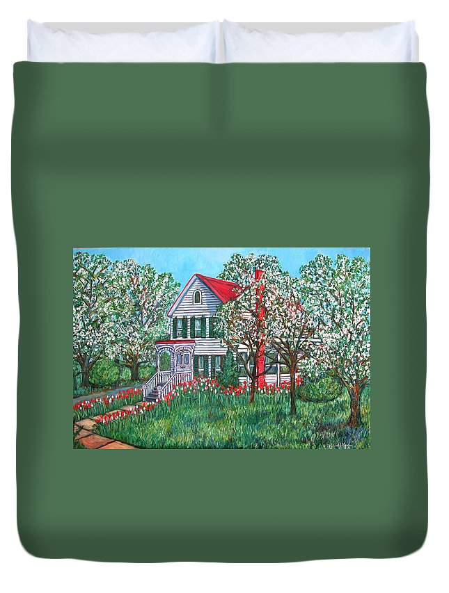 Home Duvet Cover featuring the painting Esther's Home by Kendall Kessler