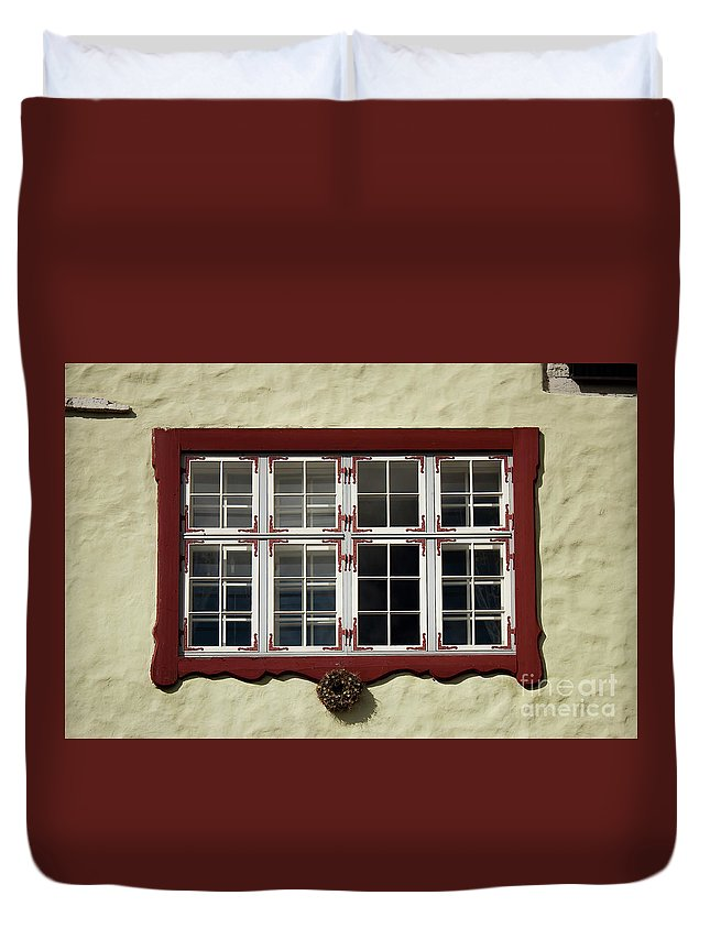 Window Duvet Cover featuring the photograph Estonian Window by Christian Hallweger