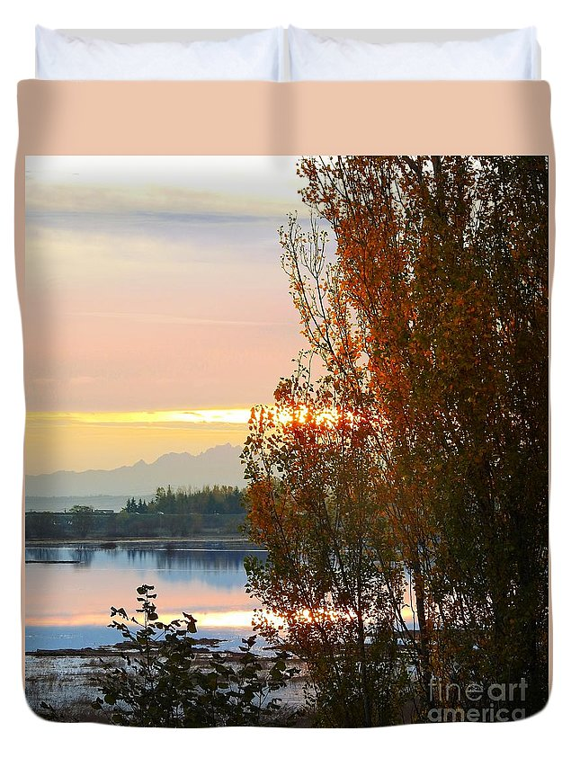 Trees Duvet Cover featuring the photograph Estuary by Sandra Peery