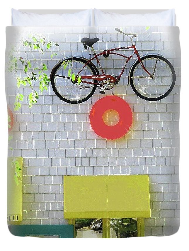 Bike Duvet Cover featuring the photograph Et, Call Home by Barbara Jean Lloyd