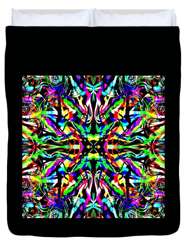 Abstract Duvet Cover featuring the digital art Eterna by Blind Ape Art