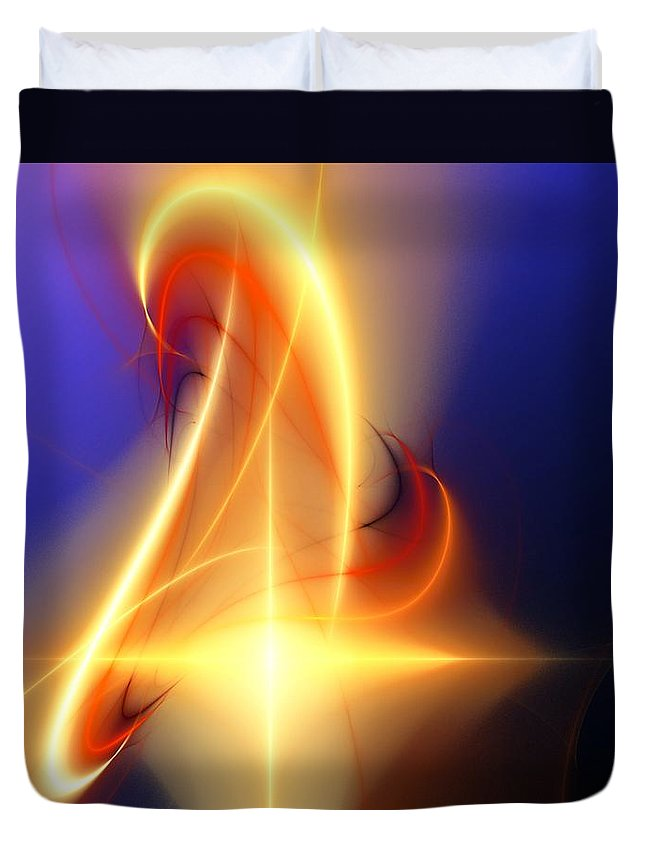 Digital Painting Duvet Cover featuring the digital art Eternal Flame by David Lane