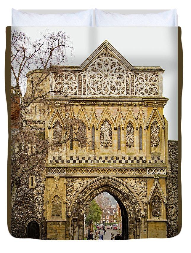 Ethelbert Gate Duvet Cover featuring the photograph Ethelbert Gate by Tony Murtagh