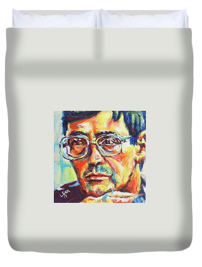 Eugene Duvet Cover featuring the painting Eugene by Larry Ger