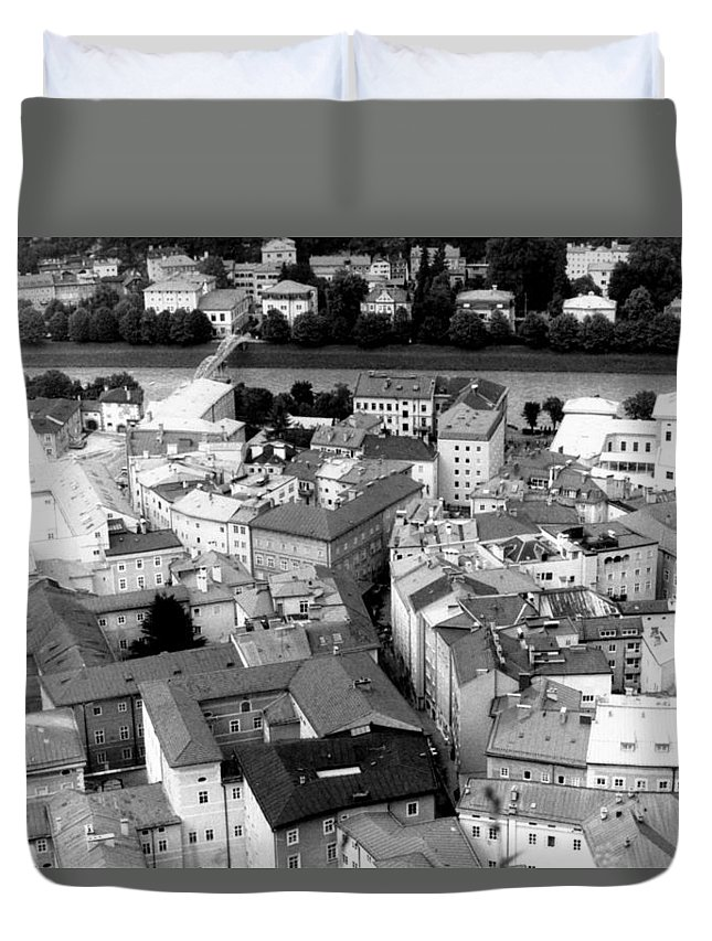 Rofftops Duvet Cover featuring the photograph European Rooftops by Michelle Calkins