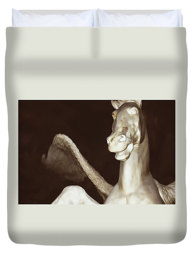 Horse Duvet Cover featuring the photograph Euros The East Wind by JAMART Photography