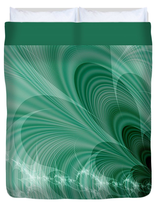 Art Duvet Cover featuring the digital art Evacuation by Jeff Iverson