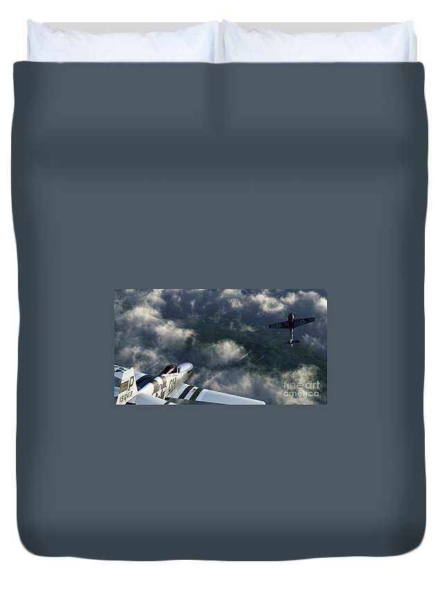 Warbirds Duvet Cover featuring the digital art Evade by Richard Rizzo