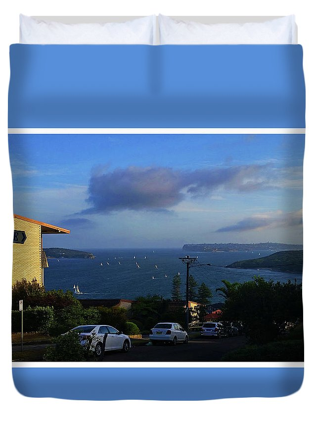 Evening Duvet Cover featuring the photograph Evening For Sailing by Alexey Dubrovin