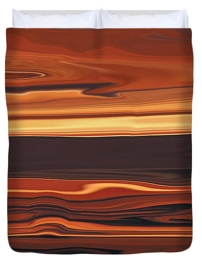 Abstract Duvet Cover featuring the digital art Evening In Ottawa Valley 1 by Rabi Khan