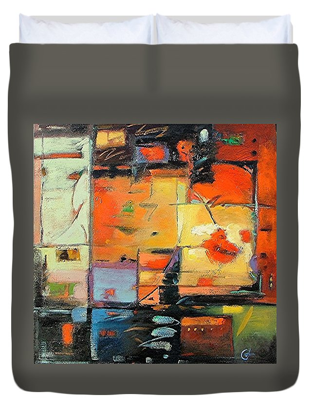 Abstract Painting Duvet Cover featuring the painting Evening Light by Gary Coleman