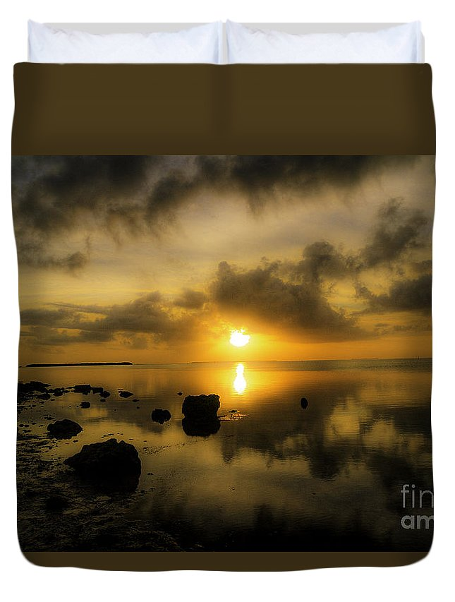 Everglades Duvet Cover featuring the photograph Everglades Sunrise by Tress Chapin