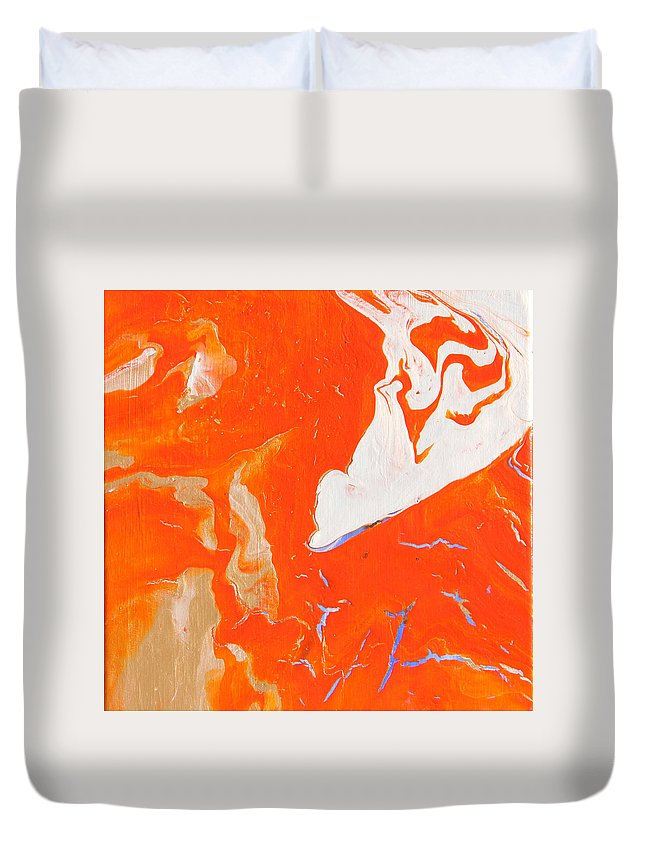 Fusionart Duvet Cover featuring the painting Evidence Of Angels by Ralph White