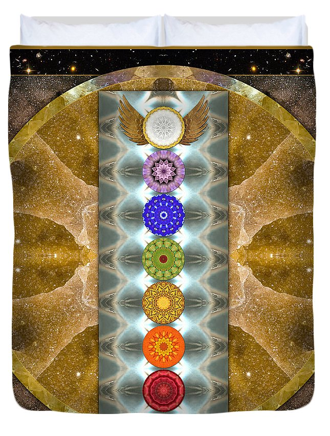 Chakras Duvet Cover featuring the photograph Evolving Light by Bell And Todd