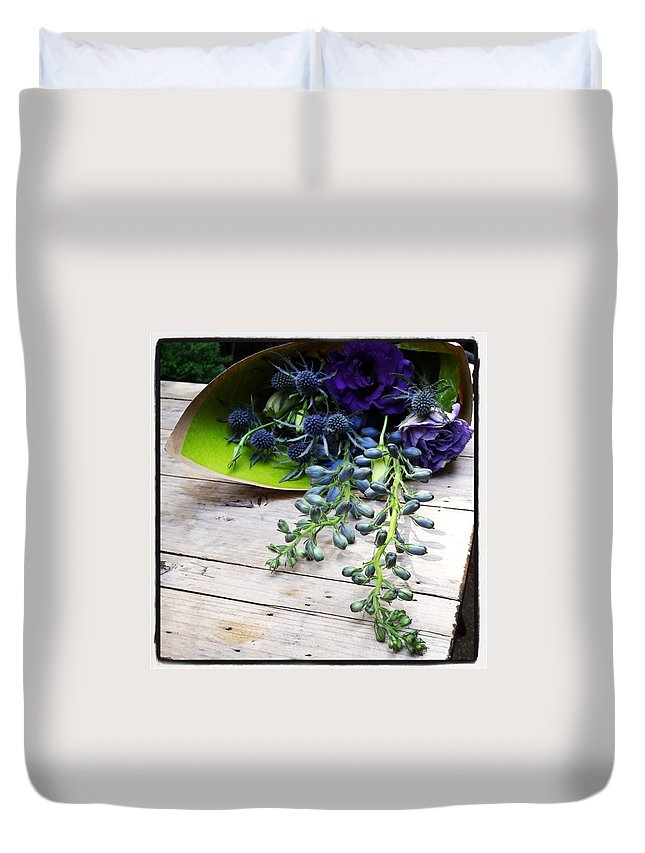 Gifttomyself Duvet Cover featuring the photograph Excellent Customer Service. #flowers by Mr Photojimsf