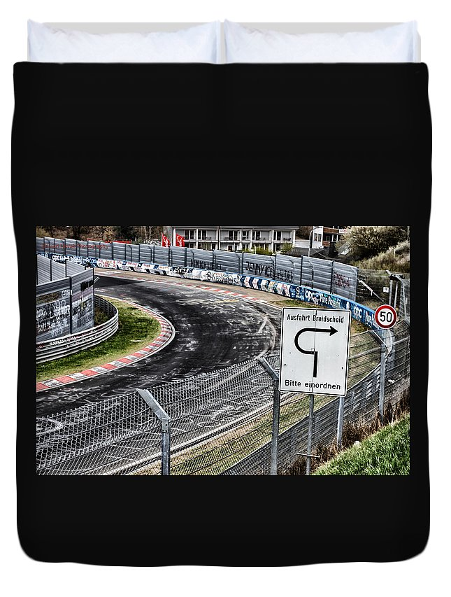 Nurburgring Duvet Cover featuring the photograph Exit Breidscheid by Lauri Novak