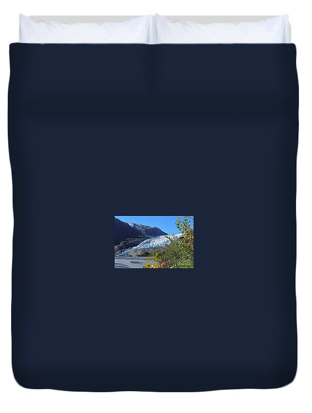 Glacier Duvet Cover featuring the photograph Exit by Rick Monyahan