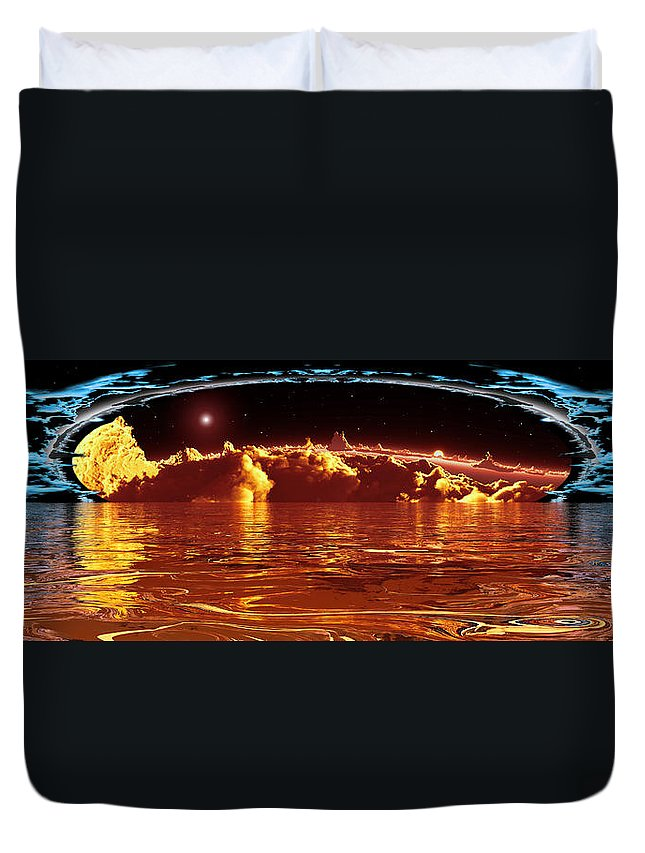 Cloud Duvet Cover featuring the digital art Exogatus by Max Steinwald