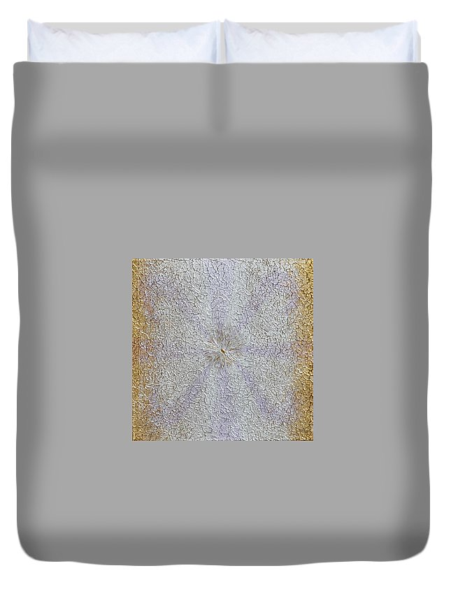 Abstract Painting Duvet Cover featuring the painting Expansion by Georgeta Blanaru