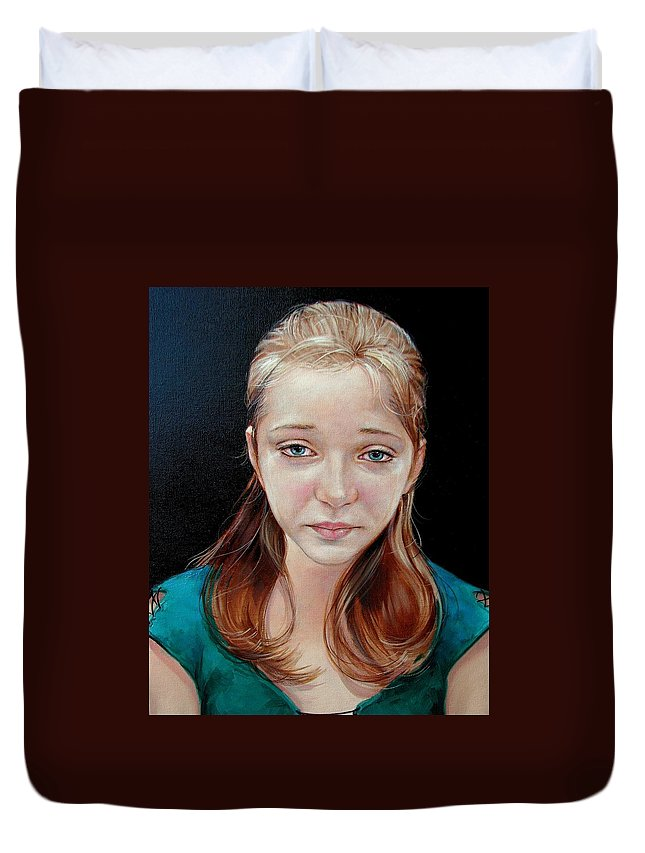 Sadness Duvet Cover featuring the painting Experience Of Loss 2004 by Jerrold Carton
